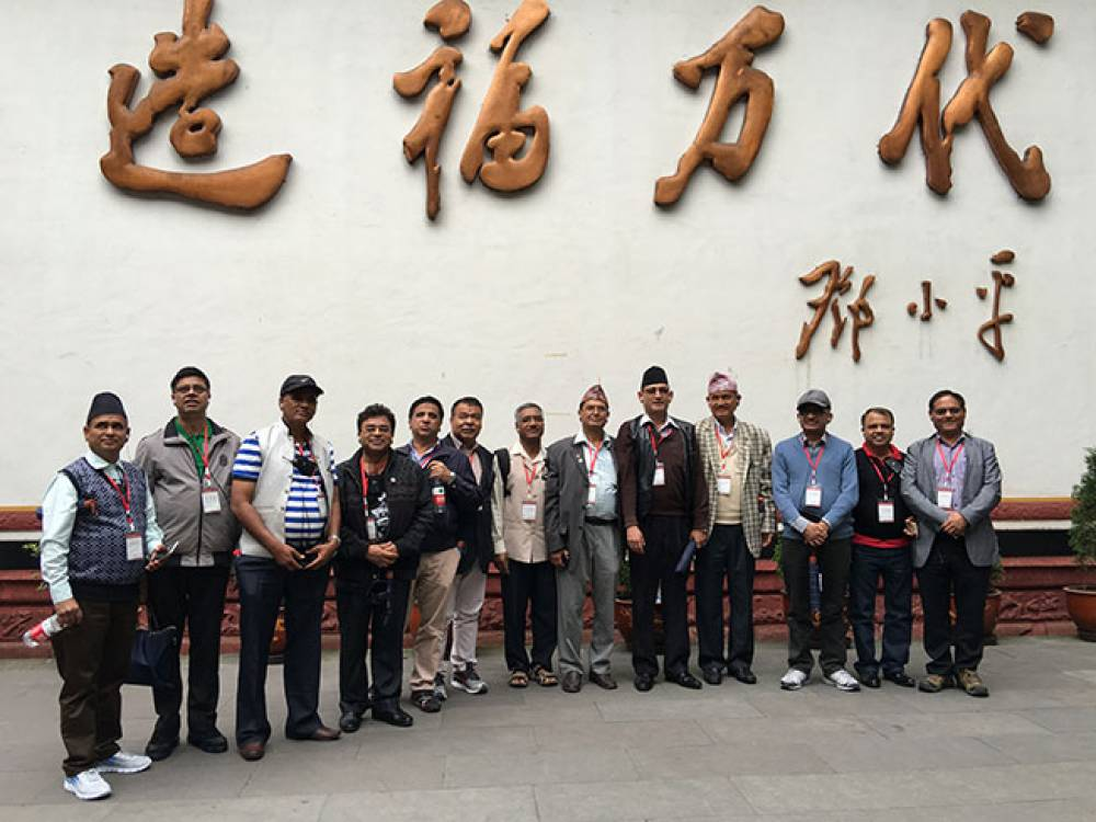Mr.H.B.Chhetri, Director of Newtonian Science Counselling Institute Pvt.Ltd., with visiting delegation from Nepal in Sichuan University