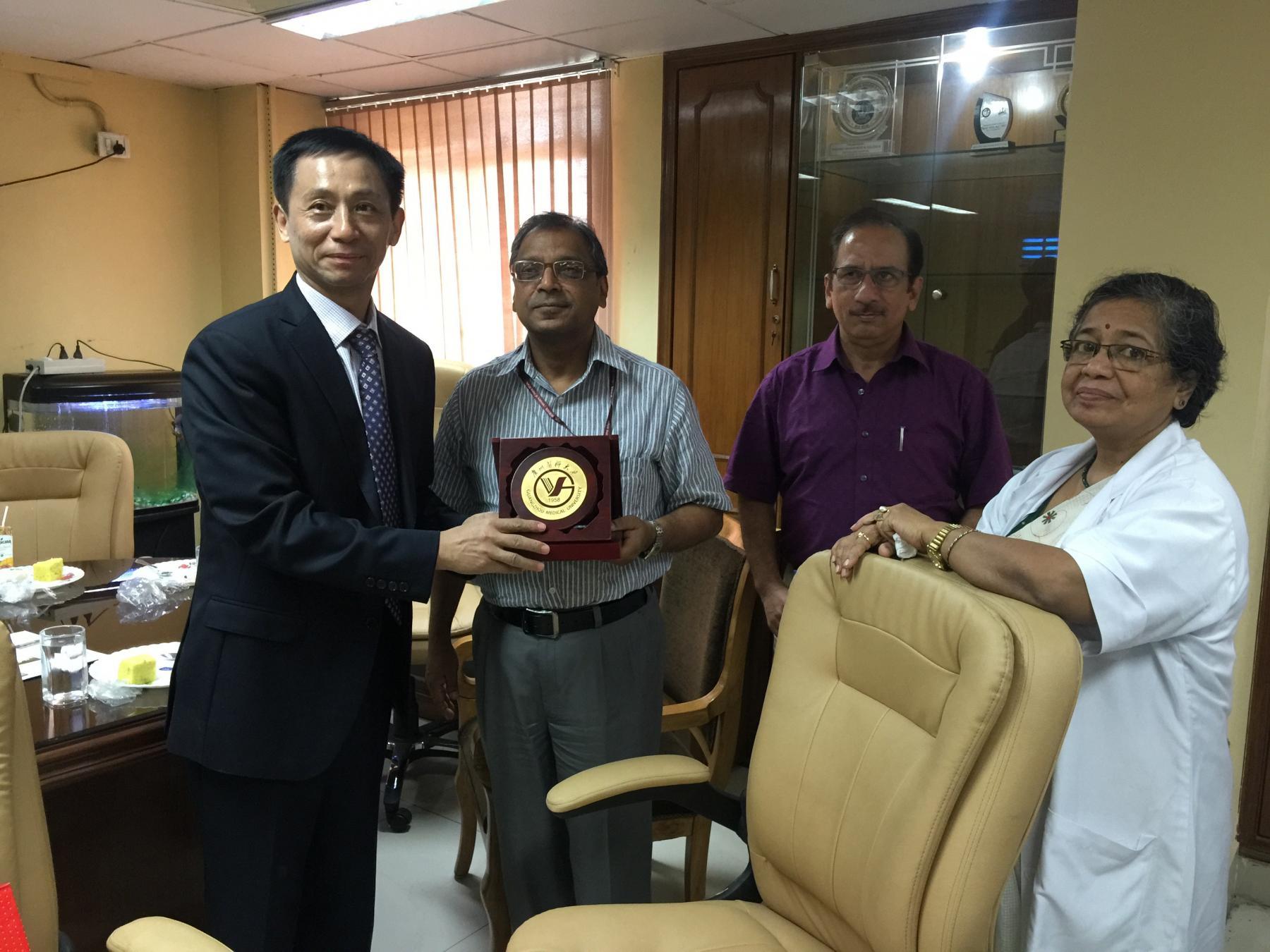 visit of GMU delegation at Safdarjung hospital in Delhi,India